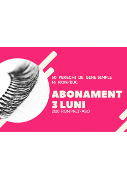ABONAMENT PENTRU 3  LUNI